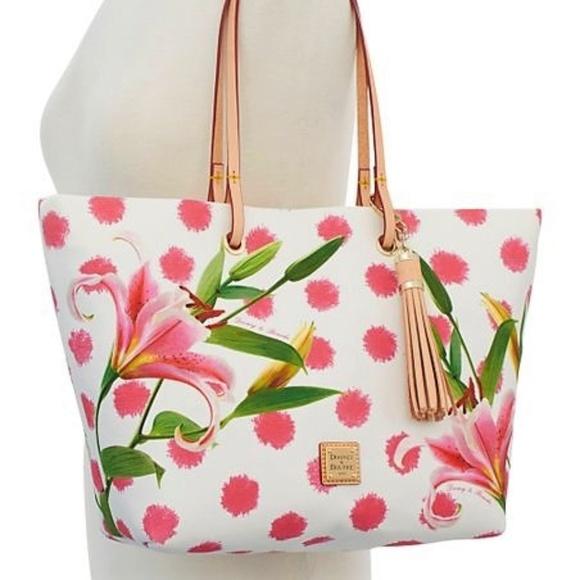02b1b5952ab4 Dooney & Bourke Bags | Dooney Bourke Addison Medium Tote Tassel Lily ...